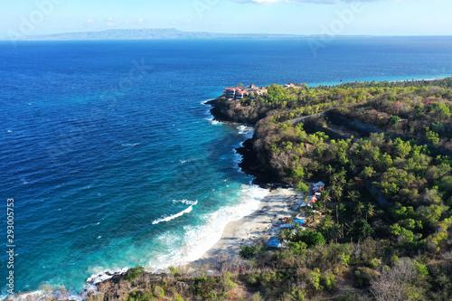 Valokuva  Sea and rocks, beautiful white sand beach, popular as Bias Tugel near Padang Bai