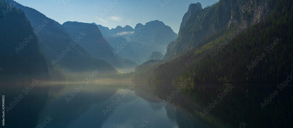 Fototapety, obrazy: Great view of the lake in the mountains