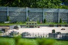 Model Of The American Military Base In Poland. Fort Trump Project