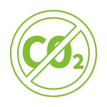 Green No CO2 Symbol Logo