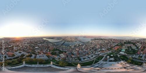 pranoramic aerial view of istanbul