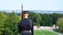 Close Up View Of A Soldier During The Changing Of Guard At Tomb Of The Unknowns, Arlington National Cemetery, Washington DC, USA