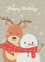 Snowman Reindeer Celebration H...