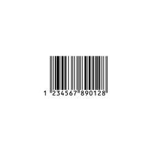 バーコード・買い物イメージ素材:シンプルなバーコード〔白背景)