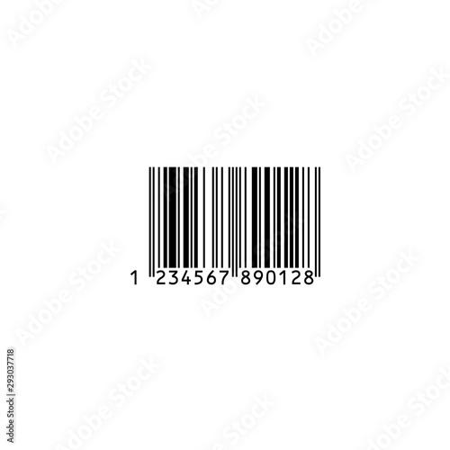 Foto バーコード・買い物イメージ素材:シンプルなバーコード〔白背景)