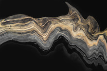 Golden Marble Wave Zigzag On B...