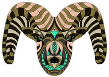 Patterned, Colorful Capricorn ...