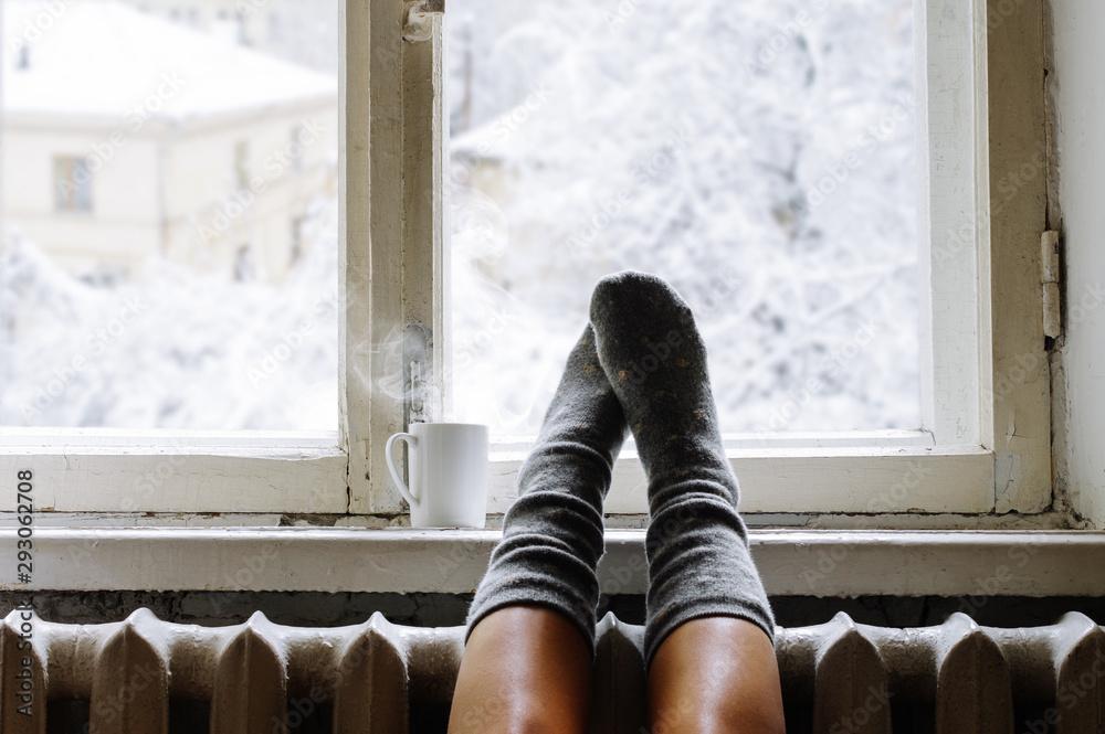 Fototapeta Cozy winter still life