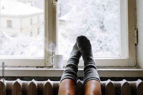 Cozy winter still life Tableau sur Toile