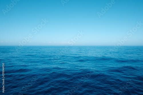 Fotografía seascape, ocean horizon and blue sky