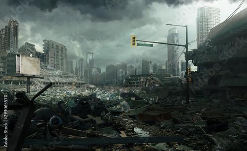 Obrazy miasto  zrujnowany-pejzaz-miejski