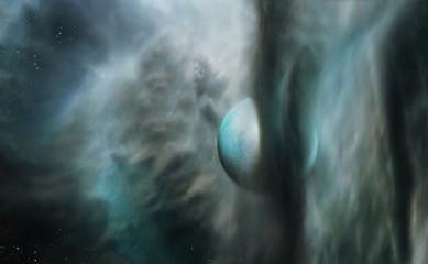 Planet in Nebula