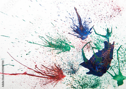 Photo sur Toile Papillons dans Grunge hand painted paint background