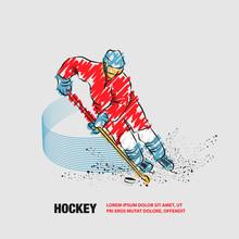 Hockey Player In Dynamic Glidi...