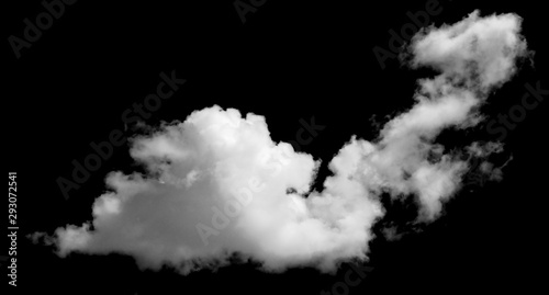 Canvas Prints Heaven Whie cloud isolated on black blackground