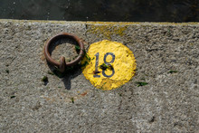 The Number Eighteen Painted On The Floor