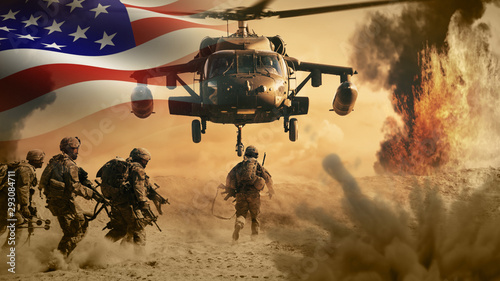 Canvas Prints Equestrian USA Military Helicopter