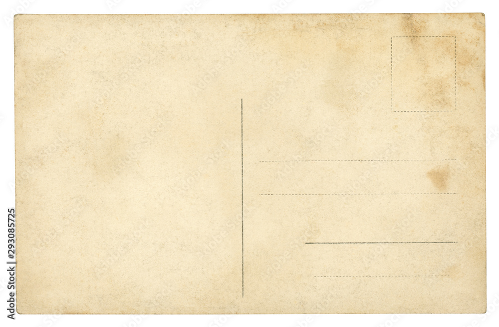 Fototapeta Vintage Postcard - isolated (clipping path included)