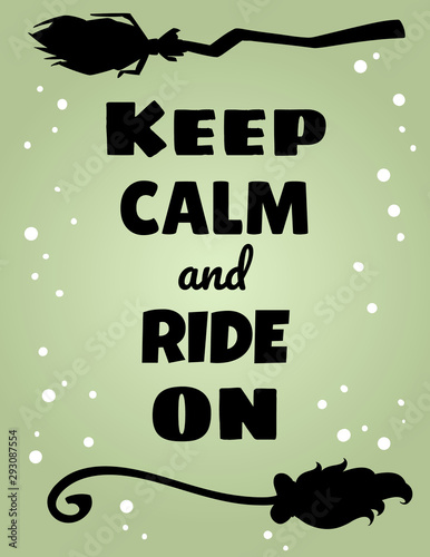 Keep calm and ride on poster Canvas Print
