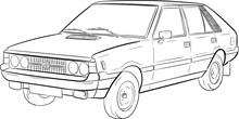 Polonez, Szkic, Sketch, Car, A...