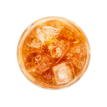 Glass Of Ice Tea Isolated On W...