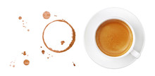 Coffee Cup, Stains And Drops O...