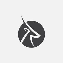 Gazelle Icon Design Vector Ill...