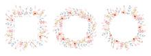 Floral Frame Collection. Set O...