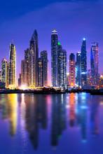 Dubai Marina Skyline At Night ...