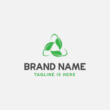 Leaf Icon Vector Illustration, Leaf Recycle Logo Design, Eco Logo Design