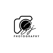Initial Letter JJ With Camera. Logo Photography Simple Luxury Vector.