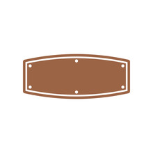 Blank Western Sign Board Graphic Design Template