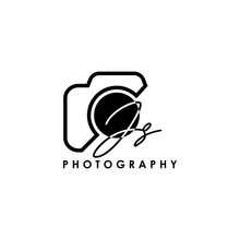 Initial Letter JS With Camera. Logo Photography Simple Luxury Vector.
