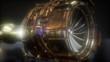 jet engine turbine parts rotate