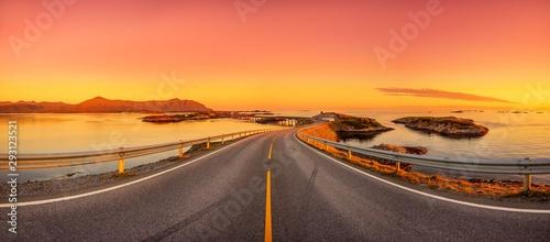 Fotografie, Obraz Atlantikstraße in Norwegen - Panorama