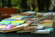 Book Stall At The Outdoor Market Fair