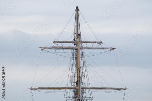 Papiers peints Navire Navire bateau 3 mâts cordage gréement