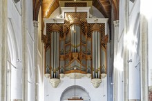 Horizontal Shot Of Organ Pipes...