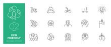 Set Of Eco Friendly Line Icons...