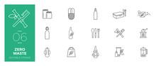 Set Of Zero Waste Line Icons -...