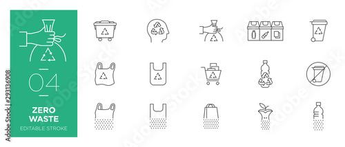 Fotografija Set of Zero waste line icons - Modern icons