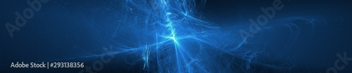 Photo blue glow wave. lighting effect abstract background