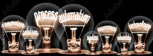 Fotomural Light bulbs with Process Automation concept