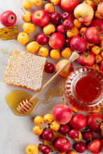 Red And Yellow Crab Apples Wit...