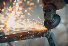 Craftsman Sawing Metal With Di...