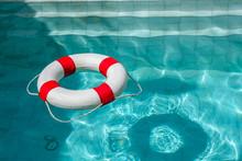 Life Ring At The Swimming Pool.