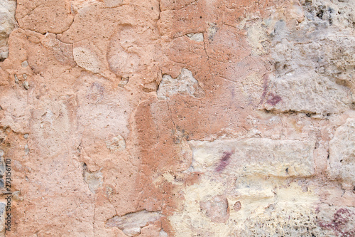 Photo sur Toile Vieux mur texturé sale Old weathered wall background or texture