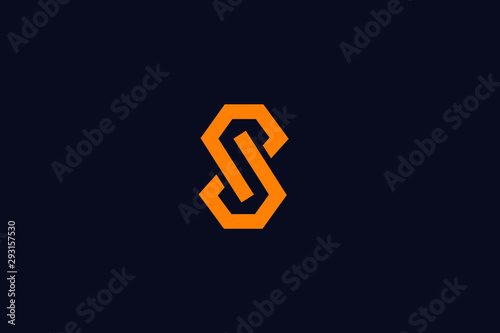 Fotografia  Initial S Letter Logo Design Vector Template