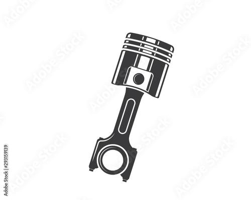 Fotografie, Obraz piston vector icon illustration design