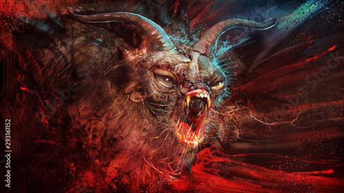 Demonic Horror Canvas Print